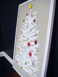 cute button advent calendar