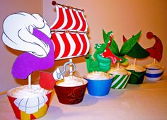 Peter Pan Neverland Collection Cupcake Wrappers and by OpalandMae, $10.00 THESE ARE AMAZING