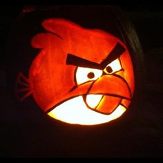 Angry Birds Pumpkin Carvings and Designs