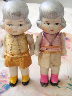 vintage bisque flapper dolls