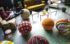 Knitted Yoga Ball Covers - Kewl!