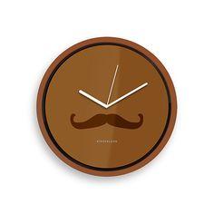 moustache clock
