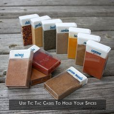 a use tic tac cases to hold your spices