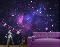 Photo Wall Mural Galaxy...could see this in a teen's room.