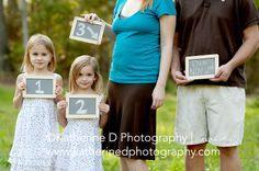 Our pregnancy announcement photo :) cute idea