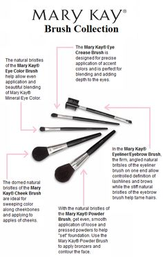 For a polished and professional application every time, apply your makeup with the Mary Kay® Brush Collection! Each brush is customized to help you get exactly the look and effect you want.