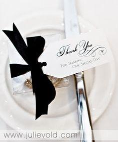 #wedding #favour #black #white