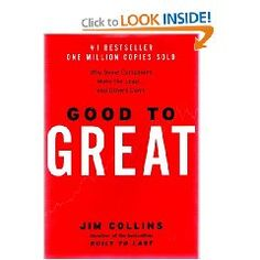 """Jim Collins' first book on what it takes for companies to go from """"good to great"""" In an interesting twist, a large majority of the companies he highlighted went out of business when social media, online reviews and the recession hit. Good to read for that reason alone."""