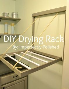 drying rack tutorial on the back of a door