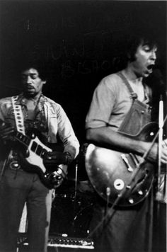 Jimi and Elvin Bishop jamming (fooled around and fell in love...)