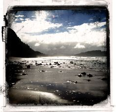 warm springs under the sand warm your body while your toes dip in the icy sea..magical