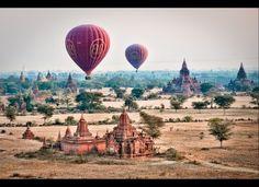 Balloons over Bagan, Myanmar (Burma) http://huff.to/JvYa1X