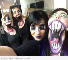 funny caption awesome anime makeup