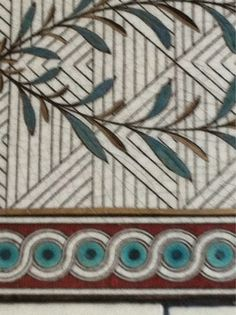 Deco Inspired original tile - Pabst Mansion - Milwaukee Wisconsin