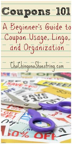 A beginner's guide to Coupon Lingo, Coupon Organization, Coupon Rules and more!  All you need to know to learn how to coupon like a pro.  You'll be slashing your grocery budget in no time with these couponing tips!