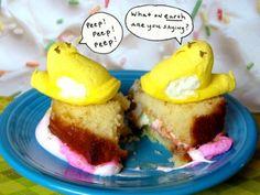 Peep Fluffernutter Sandwiches   Marshmallow Peeps Ideas - Parenting.com