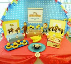 Curious George Party from Kitchen Fun with My 3 Sons.  So many cute ideas! #party #ideas