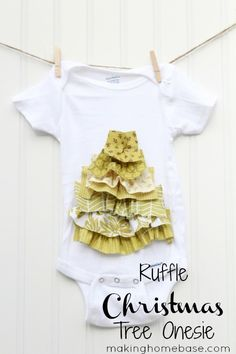 Ruffle Christmas Tree Onesie Tutorial
