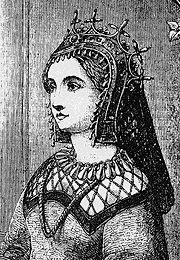 Margaret of Anjou (c.1429-82) wed Henry VI of England at 15. After raising an army to defend herself from the vultures that were gathering now that Henry VI was deemed mentally incompetent, Margaret restyled herself a warrior-queen. She led several victories during the War of the Roses before she & her family escaped to Scotland. In 1462 she went to France to seek help from Louis XI-he gave her re-enforcements. Back in England, things went well until Margaret's only child was slain by Edward VI.