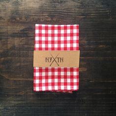 The Rhett Butler Red and White Gingham Pocket Square