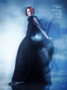VOGUE CHINA- Karen Elson in Shadow Dream by Solve Sundsbo.