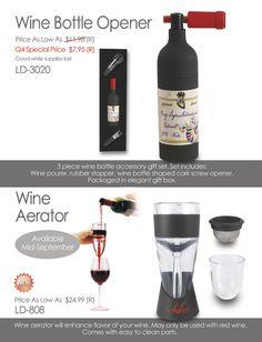 Wine Aerator and Wine Bottle Opener