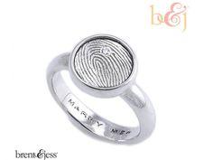 Engagement Sterling Silve... Brent & Jess Fingerprint Wedding Rings Custom Handmade Fingerprint Jewelry ($275)