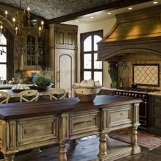 home interiors, cabinet colors, old world style, design interiors, cabinet design, kitchen islands, kitchen designs, dream kitchens, kitchen cabinets