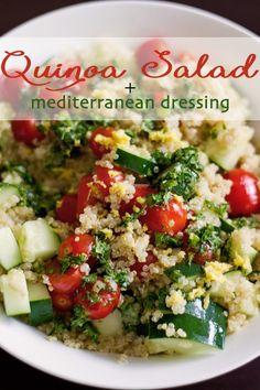 Recipe:  Quinoa Salad with Mediterranean Dressing