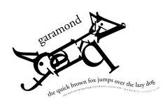 Typography Garamond Dog