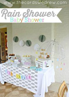 Rain Shower Baby Shower--gender neutral shower