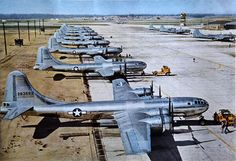 B-29s at their Marianas Islands base, 1944 or 1945.