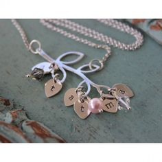 Family Branch Initial Necklace