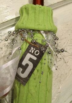 Gift a bottle of wine in an old sweater sleeve.  Works for me!