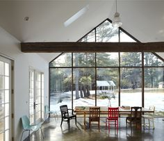 The northern end of the house ?  floating farmhouse / photographed by mark mahaney.