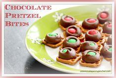Chocolate Pretzel Bites {Passionate Penny Pincher 12 Days of Christmas Baking} christmas baking, pretzel 066, chocolates, pretzel bites, chocol pretzel, pretzels, pantri 911, dessert, christma tradit