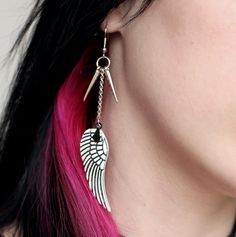 Wings and Spikes Earrings by NeonAngelDesign on Etsy, $12.82