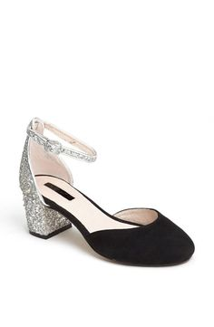 Party in the back. Topshop Glitter Heel Pump