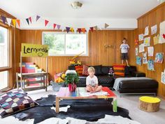 DIY BASEMENT. Fun and Games in A Kid-Friendly Basement Full of Games  from HGTV