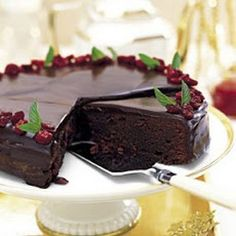 Chocolate-Cranberry Torte