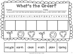 Earth Day ABC order $