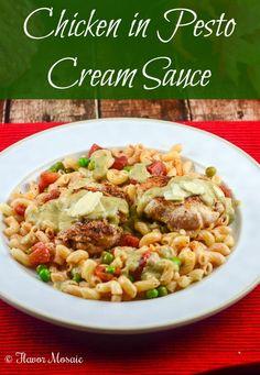 #WeekdaySupper Chicken in Pesto Cream Sauce