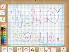 Crayon Physics app for iPad