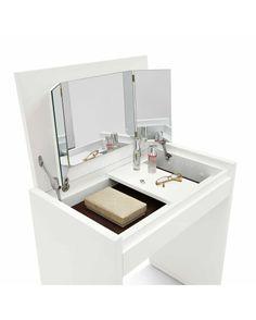 Mobile tavolo toeletta mobile trucco york 3 specchi bianchi 80cm - Mobile toeletta moderno ...