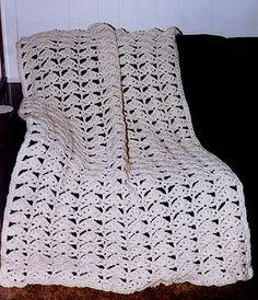 "Free pattern for ""Easy 3 Strand Snug Afghan""!"
