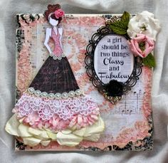 Manor House Creations Mixed Media Prima Doll Stamp Canvas