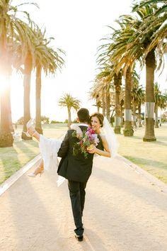 sweet wedding portrait, photo by Kate Robinson Photography http://ruffledblog.com/whimsical-australian-wedding-with-bright-colors #weddingideas #weddingportrait