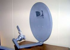 Repurposed dish antenna to boost wi-fi and cell phone signals.