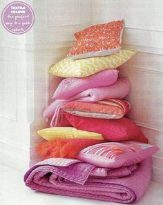 Spring colours in textiles! (via Reg mag)