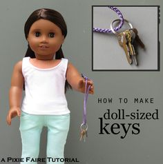 Doll-sized keys. Fun and simple :) Tie in to GS Keys of Leadership???